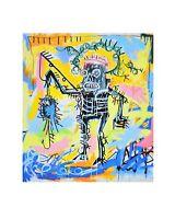 Jean-Michel Basquiat Fishing Poster Kunstdruck Bild 36x28cm Urban Art