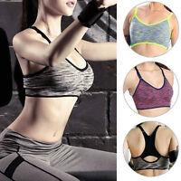 Women Sport Bra Running Gym Yoga Padded Fitness Tops Tank Workout Stretch Bra