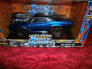 1:24 MUSCLE MACHINES 1966 PONTIAC GTO DIE CAST CAR MAISTO