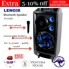 Portable Karaoke Machine Recharge Speaker System FM Radio Wireless Microphone