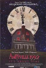 AMITYVILLE 1992: IT'S ABOUT TIME Movie POSTER 27x40 Stephen Macht Shawn