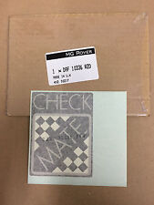 Classic Mini 'CHECKMATE' Bootlid Decal - DAF10336RZD