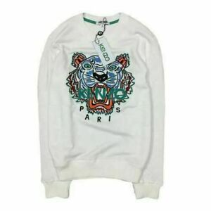 KENZO² PARIS unisex Tiger Head Embroidery logo jumpers crew Neck Sweatshirt tops