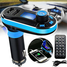Bluetooth Car Kit MP3 Player FM Transmitter Radio 2 USB Ports Charger Hands free