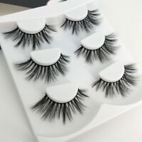 Long Black Thick 100% 3D Mink False Eyelashes Eye Lashes Extension Makeup Soft