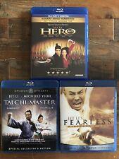 Jet Li Triple Feature on Blu-ray: Hero, Fearless, Tai Chi Master (Twin Warriors)