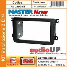 MASCHERINA AUTORADIO DOPPIO DIN 2 DIN SEAT Alhambra 11/> Leon 11/>13  Altea Toledo