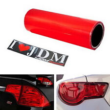 "12 x 48"" Glossy Red Vinyl Wrap Overlay Film For Tail Lamps Lights Sidemarkers"
