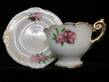 Vintage Miniature Occupied Japan Miniature Porcelain Tea Cup Gold Trim