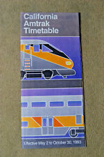 Amtrak California Timetable - May 2 to Oct 30, 1993