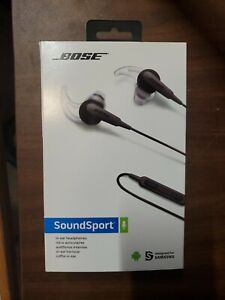 Bose SoundSport In-Ear Wired Headphones For Samsung Charcoal Black BNIB