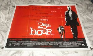 25th Hour Original UK Quad Movie Cinema Poster 2002 Edward Norton, Spike Lee