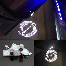 2x Car LED Door Ghost Logo Projector Puddle Lights HD For Honda Accord 2003-2012
