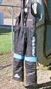 Vintage Polaris Hein Gericke Leather Winter Snowmobile Pants Bibs Men's Size M