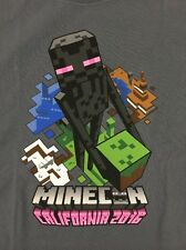 Minecon 2016 T-Shirt Shirt Women's Large Exclusive Charcoal Gray NEW