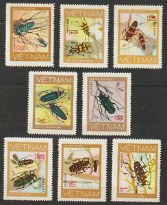 1977 Vietnam Stamps Beetles Collection Scott # 876-883 MNH