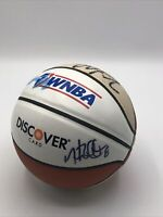 autographed signed WNBA basketball Discover Card Mini Basketball See pics