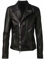 ★Giacca Giubbotto Uomo in di PELLE 100% Men Leather Jacket Veste Homme Cuir Q46a