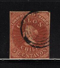 CHILE 1854 Desmadryl Sc.3 4 margins scarce wmk. position 3 NO flaws L1