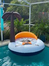 Vintage 1986 Malibu Rum Advertising Inflatable Island Blow Up Pool Float Raft