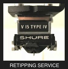 Shure V15 M97xE Moving Magnet Cartridge/Stylus Nude Line Contact Retipping Svc