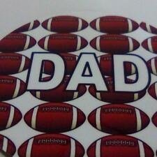 Rugby design set of 2 DAD coasters