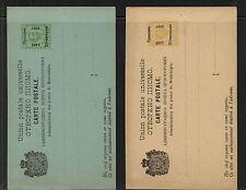 Serbia   2 postal   cards  overprinted unused     APL0516