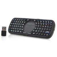 """Wireless QWERTY Keyboard with Touchpad """"iPazzPort"""" - 10m Range, Ergonomic"""