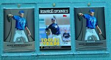 3ct. MIKE MONTGOMERY (RC's) 2010 Bowman Platinum + 2010 Topps Debut TOOLS TRADE