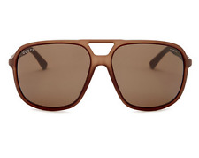 GUCCI Square Large Men Sunglasses GG 1091/S Brown Polarized Lenses B00SP