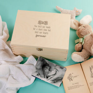 """""""You Hold Our Hearts Forever"""" Baby Keepsake Memory Box - Baby Loss Memorial"""