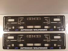 NPSL-VW - 2 x VW AUTOHAUS WOLFSBURG 2 COLOUR NO. PLATE SURROUNDS [2 ONLY]