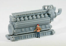 Ho Scale 5000Hp 16 Cylinder Industrial Natural Gas Engine Model Rr Flatcar Load