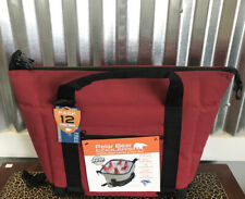 Polar Bear Coolers PB 123 12 Pack Light Nylon Soft Cooler with Strap, Red NEW