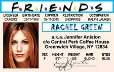 Jennifer Aniston / Rachel Green of the FRIENDS tv show id card Drivers License