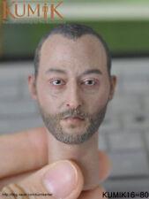 KUMIK 1/6 KM16-80 Jean Reno Type Male Headsculpt only Fit 12'' figures Enterbay
