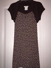 Bonnie Jean Polka Dot Dress With Attached Shrug Size 10 Euc
