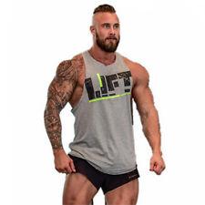 Men Workout Vest Gym Tank Top Stringer Bodybuilding Fitness YBACK Muscle Singlet Red M