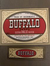 Vintage Buffalo Extra Pale Beer Pride Of Sacramento, Ca Beer And Neck Label Irtp
