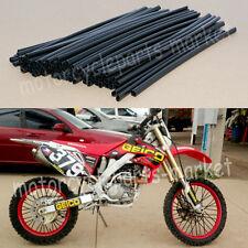 Black Wheel Spoke Wraps Covers Rims Skins Guard Motorcycle Pit Dirt Motocross