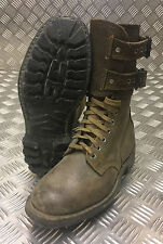 Genuine French Foreign Legion Brown Leather / Suede Army Boots - Size 40 - FB110