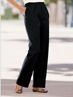 Draper's & Damon's Flat front Elastic waist Black Pull On Pants Size 18 P NWOT