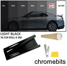 CAR VAN BUS WINDOW TINT FILM TINTING LIGHT BLACK SMOKE 50% 76cm x 3M  30X118""
