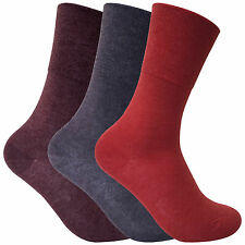 3 Pack Ladies Thin Loose Wide Top Non Elastic Binding Thermal Diabetic Socks Thrdial02