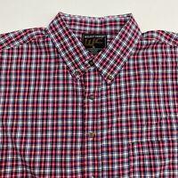 Walnut Creek Button Up Shirt Men's Size XL Short Sleeve Multicolor Plaid Casual