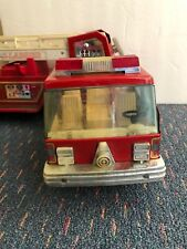 "Vintage 1980's NYLINT Fire Truck Aerial Hook and Ladder 32"" long Cab Over Truck"