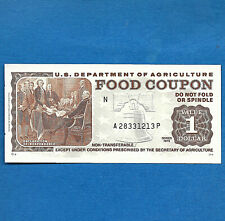 FOOD STAMP COUPON 1975  month code N USDA Currency Paper Money Script Welfare