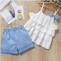Girls set 2 pcs Top Shorts sets Sleeveless Outfit Summer Set Age 3 4 5 6 7 years
