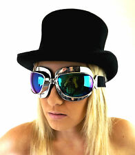 Occhiali da sole da donna con montatura in blu ovali e mantatura in plastica