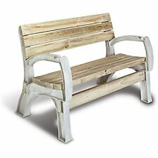 Chair Bench Ends Kit Seat Sit Outdoor Patio Garden Furniture Resin Frame